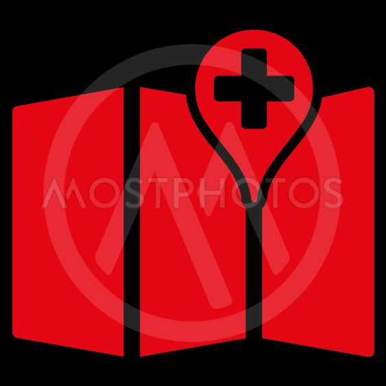 Medical Map Icon
