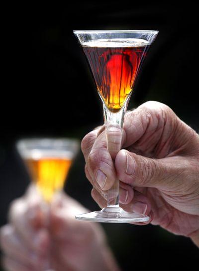 liquor in a glass