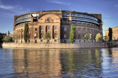 Parliament building, Stockholm.
