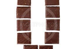 Isolate chocolate letter, alphabet