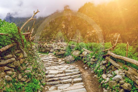 stone path in mountains
