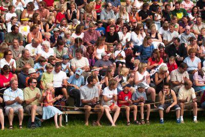 Publik inför ett evenemang.