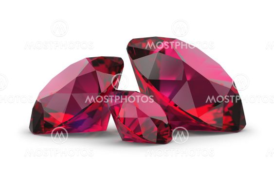 three rubies