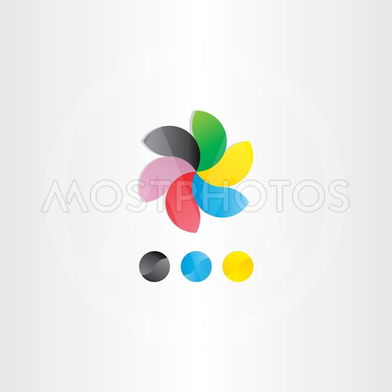 colorful business logotype icon design