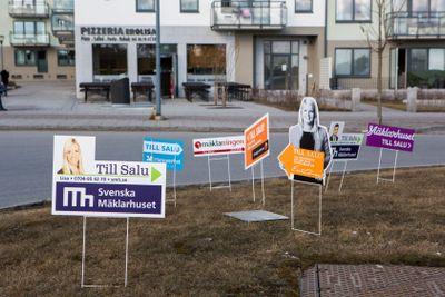 Mäklarna konkurrerar om försäljning av bostäder