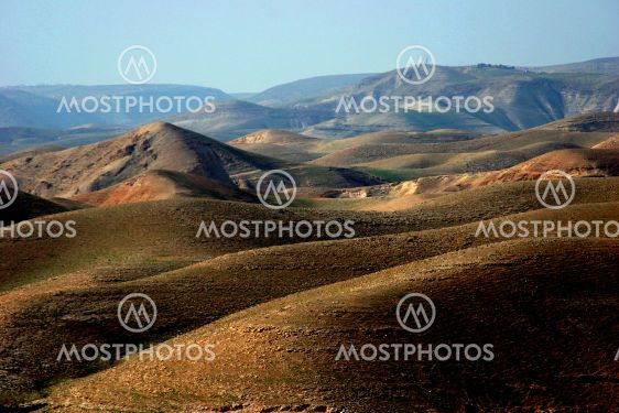 Rolling Hills of the West Bank of Jordan