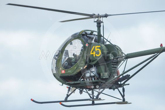 Helicopter HKP5 in the airshow at Orebro airport