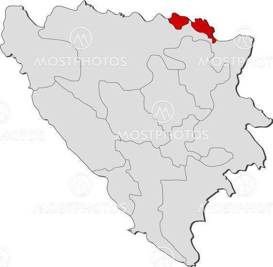 Karta Bosnien Och Hercegovina.Karta Over Bosnien Och Herc Av Steffen Hammer Mostphotos