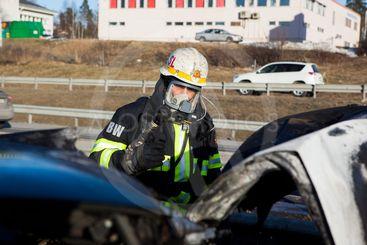 Trafikolycka på E4:an vid Glädjen, Upplands Väsby.