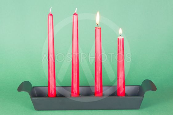 Second of Advent with red candles
