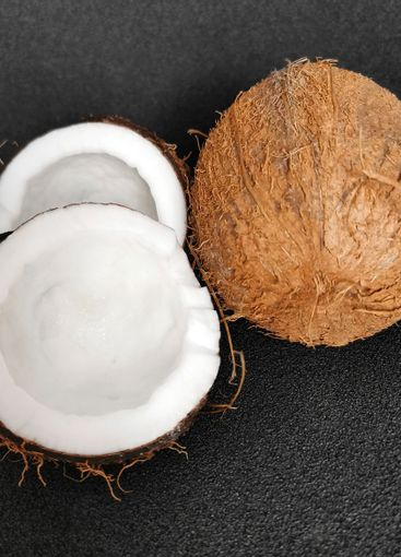 A whole and a half coconut