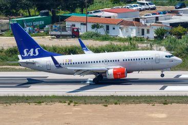 SAS - Scandinavian Airlines Boeing 737-700 airplane...