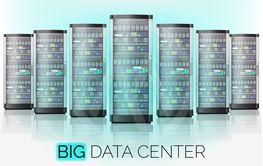 Server room, hosting big data center, cloud database...