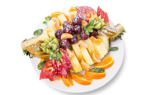 Colorful fruit platter.