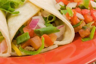 soft taco closeup