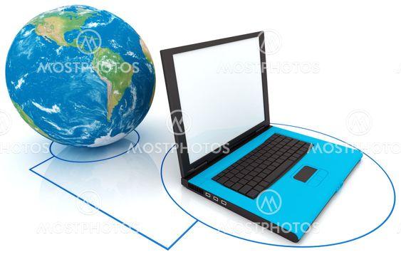 Kannettavan tietokoneen yhteys-maailma