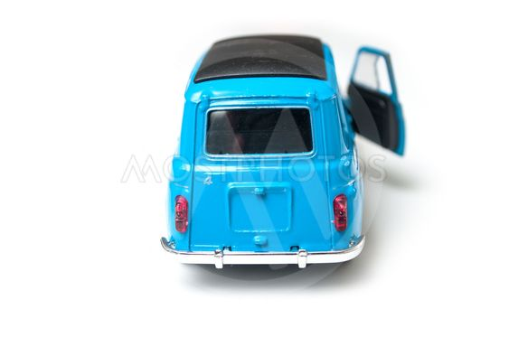 blue renault 4 miniature toy, the famous car of seventies...