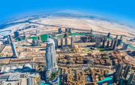 Address Hotel in the downtown Dubai area overlooks the...