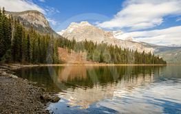 Emerald Lake in Yoho National Park, British Columbia,...