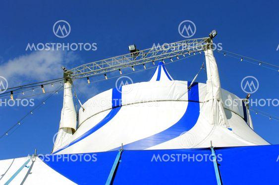 Top of circus tent