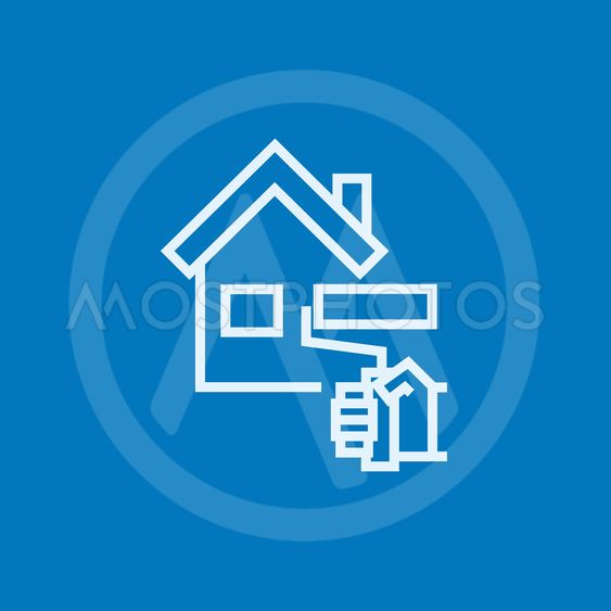 House painting line icon.