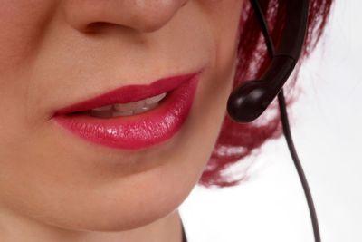 Frau mit Kopfh?rer | woman with headset