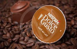 Dolce gusto nescafe expresso coffee capsules on coffee...