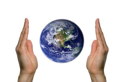 Earth between two hands 1