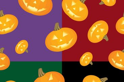 Halloween background Pumpkins