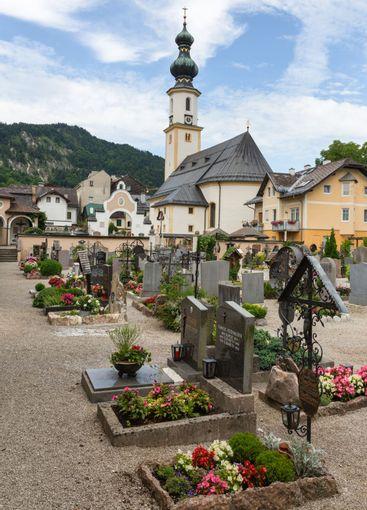 Graveyard near Parish Church of Saint Egidus,Sankt...