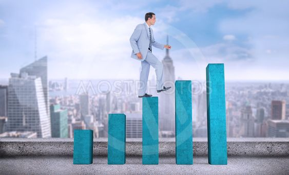 Composite image of side view of businessman walking on...