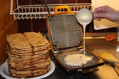 Home-made waffles