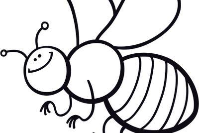 cartoon bee coloring page