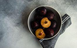 Organic plum fruits