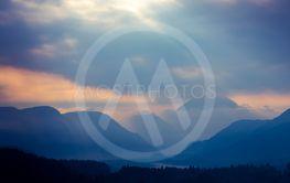 Mountains near river Tagliamento, Trentino-Alto Adige,...