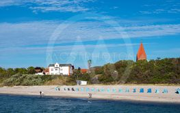 View to the beach in Rerik, Germany
