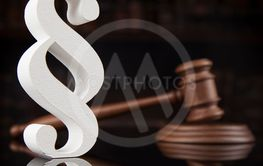Court gavel,Law theme, mallet of justice, Paragraph,...