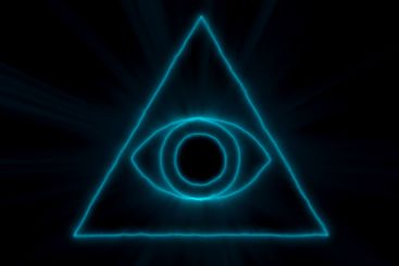 Abstract background with Eye of Providence