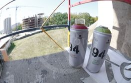 Two mtn 94 used spray cans for graffiti painting...