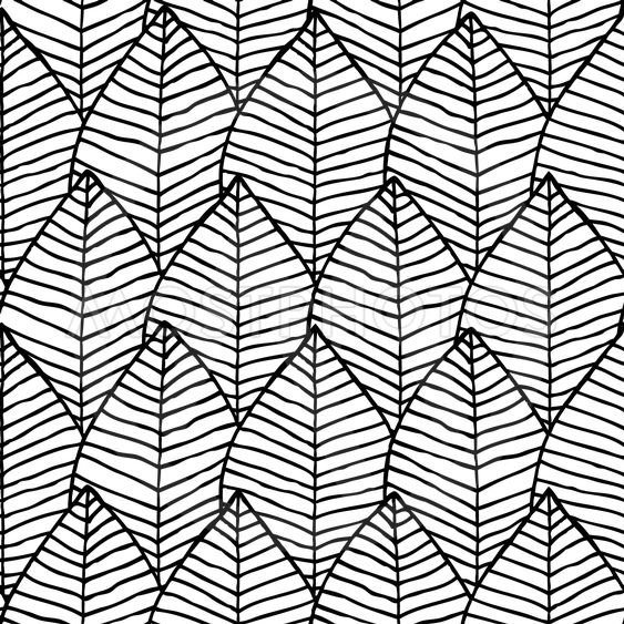 Primitive structure seamless pattern in black and white