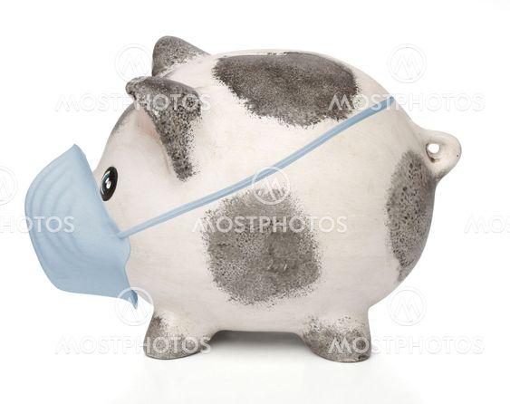 Säästöpossu kirurginen mask kanssa