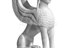 statuette of a sphinx on a white background