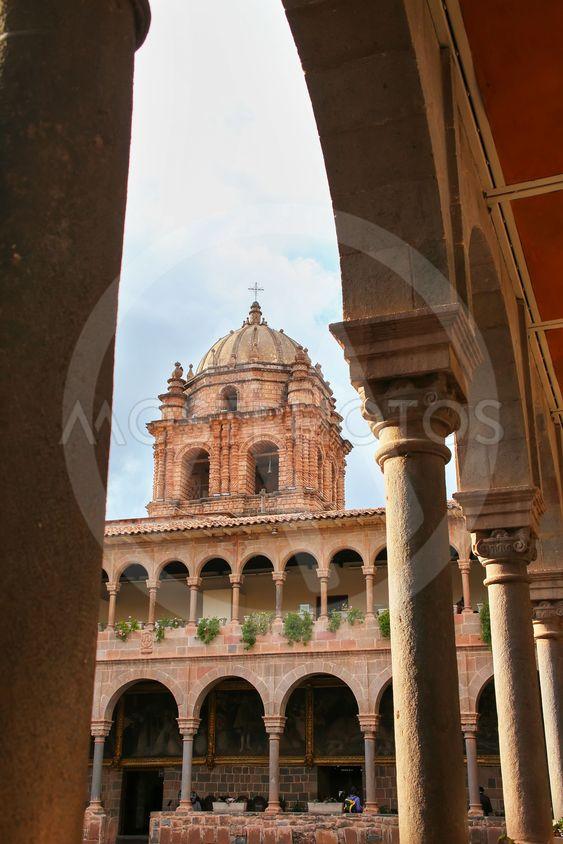 Courtyard of Convent of Santo Domingo in Koricancha...