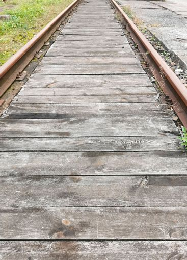 The start of the old railroad tracks