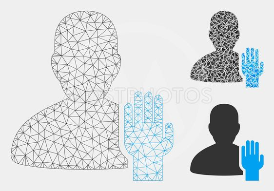 Elector Vector Mesh Network Model and Triangle Mosaic Icon