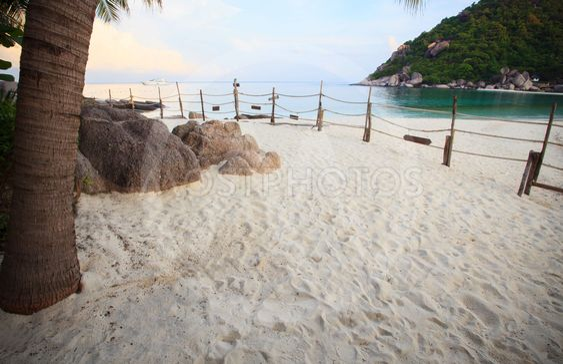 personliga sandstrand seaside