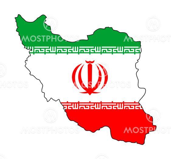 Iran Flag On Map By Speedfighter17 Mostphotos