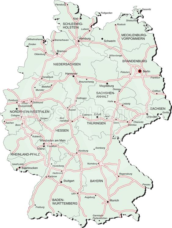 Germany autobahn map\