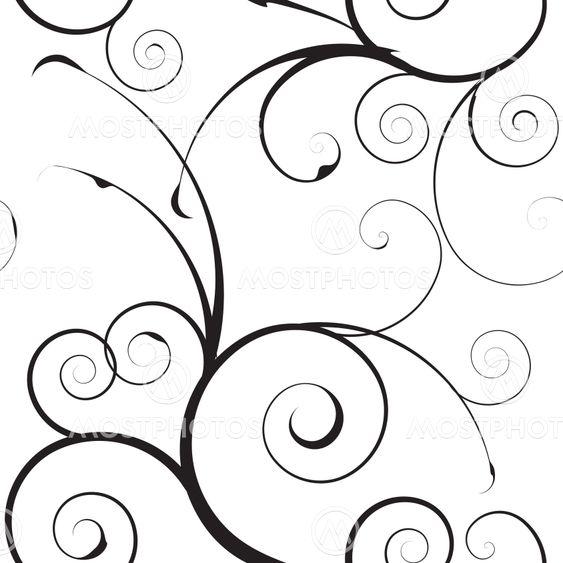 simple mono floral pattern