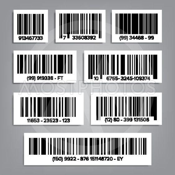 Bar Code Set Vector. UPC Bar Codes. Universal Product...